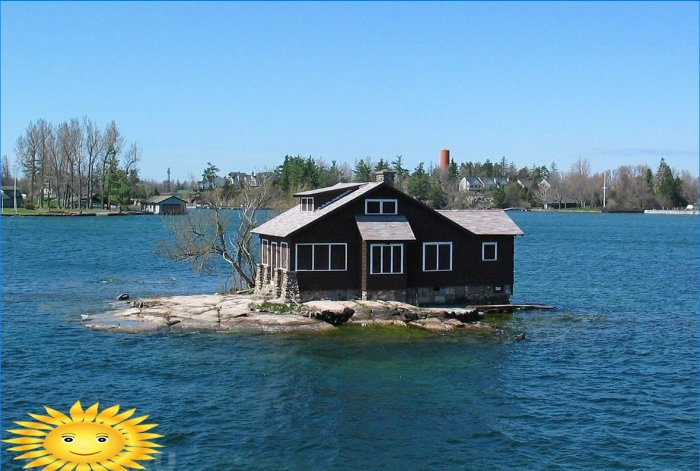 Just Room Enough Island in Canada, delle dimensioni di una casa